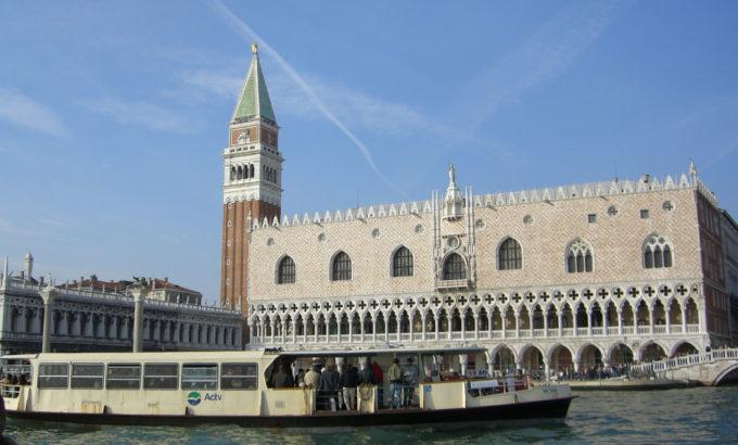 ヴェネツィア サンマルコ広場、海上から