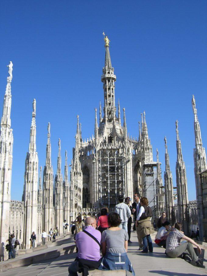 ミラノ大聖堂 屋上