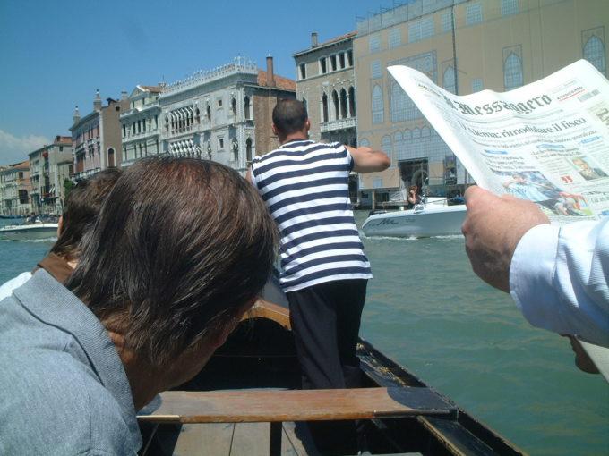 ヴェネツィアトラゲット乗船中