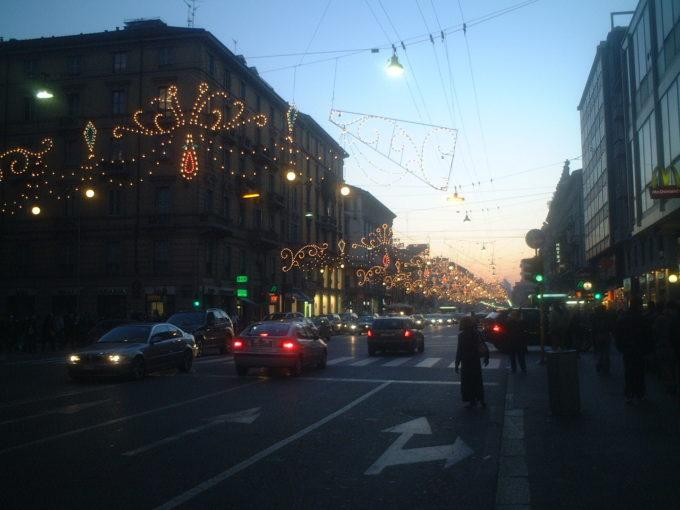 冬のミラノ 大通り