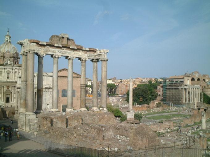 イタリアローマ フォロロマーノの様子