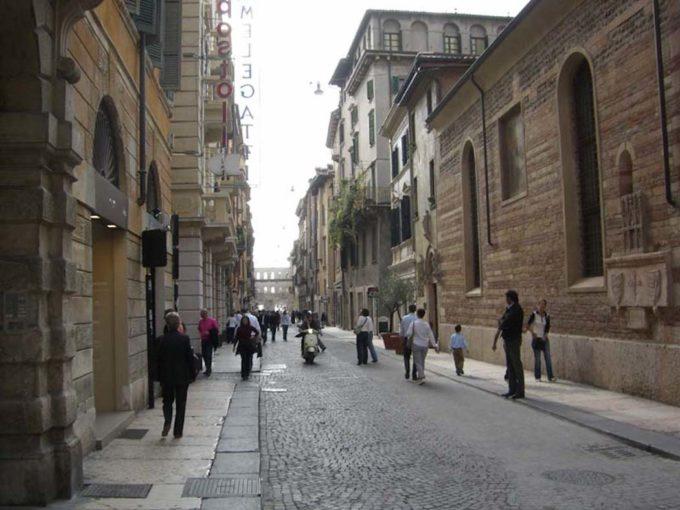 ヴェローナの街並み